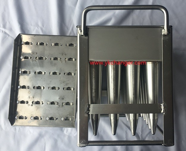 Customized kulfi ice lolly moulds 4x6 24sticks stainless steel