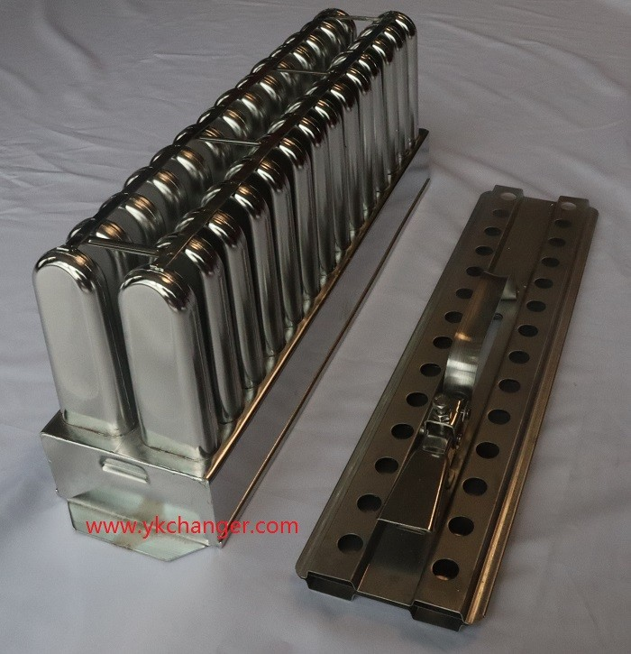Commercial popsicle maker ice popsicle molds 70ml wave ataforma type