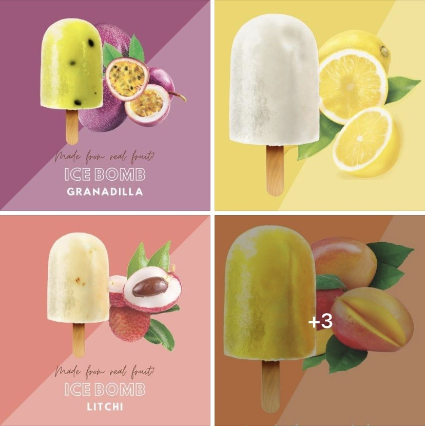 Ice Bomb shape popsicle molds stainless steel